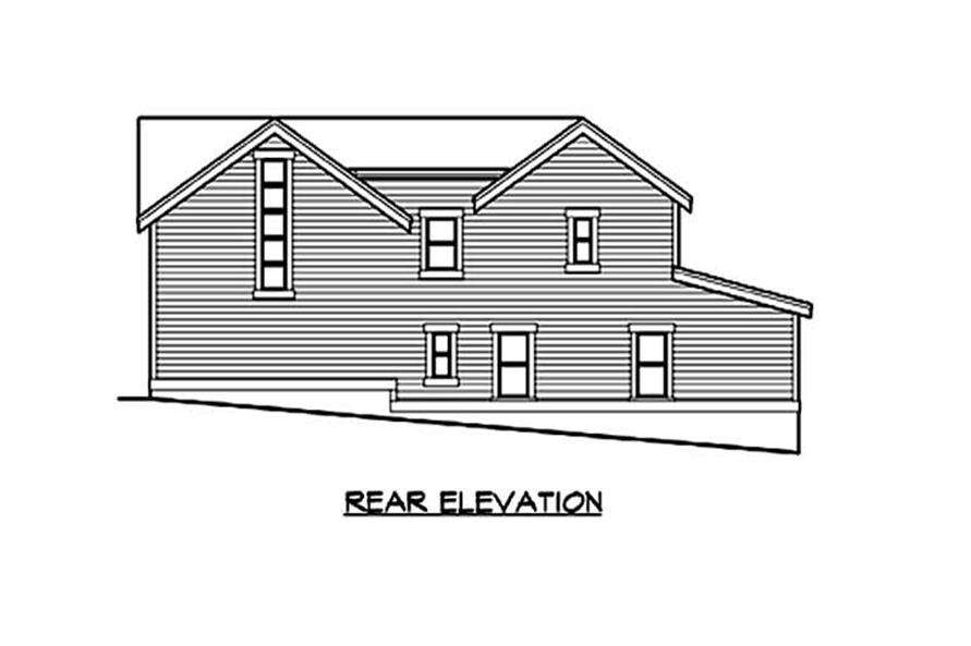 Home Plan Rear Elevation of this 3-Bedroom,3345 Sq Ft Plan -115-1151