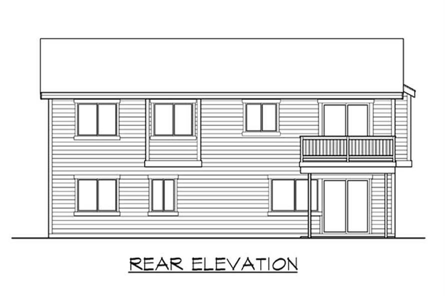 Home Plan Rear Elevation of this 4-Bedroom,2508 Sq Ft Plan -115-1152