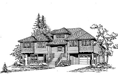 3-Bedroom, 2290 Sq Ft Multi-Level Home Plan - 115-1154 - Main Exterior