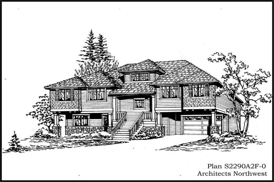 Main image for house plan # 15299