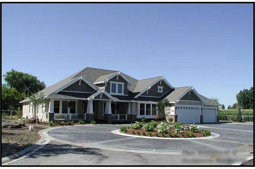 2-Bedroom, 4000 Sq Ft Luxury Home Plan - 115-1156 - Main Exterior