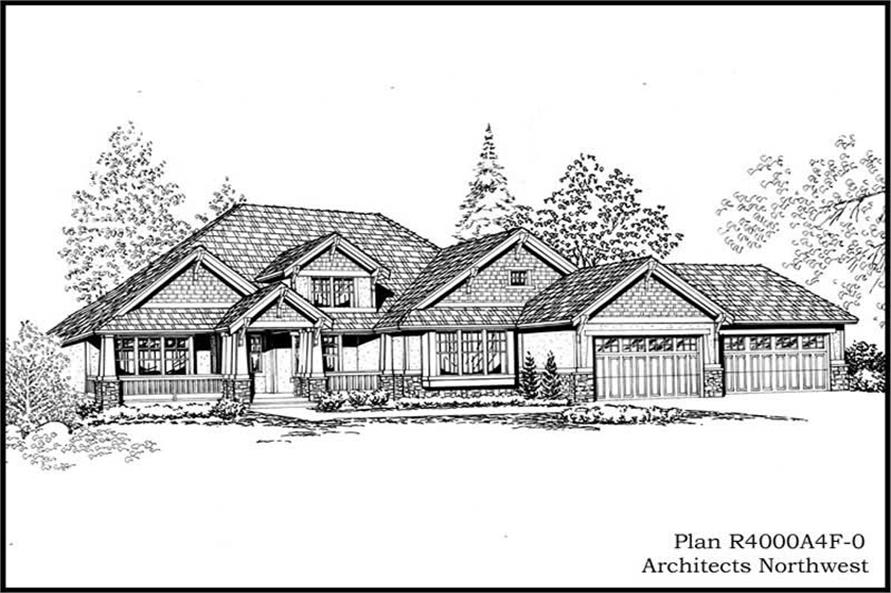 Home Plan Rendering of this 2-Bedroom,4000 Sq Ft Plan -115-1156