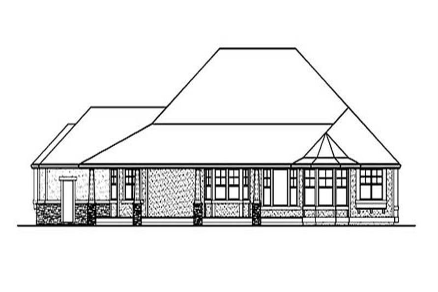 Home Plan Rear Elevation of this 2-Bedroom,4000 Sq Ft Plan -115-1156