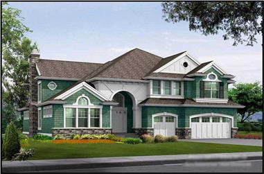 4-Bedroom, 4750 Sq Ft Craftsman House Plan - 115-1157 - Front Exterior