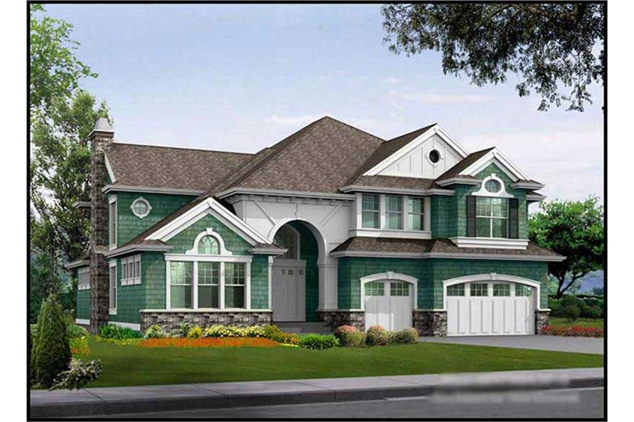 4-Bedroom, 4750 Sq Ft Craftsman House Plan - 115-1157 - Front Exterior