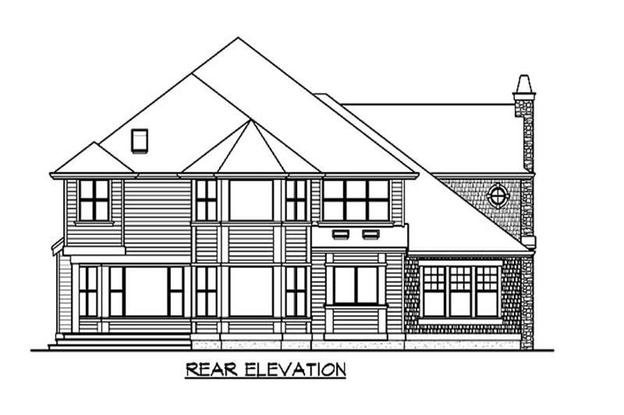 Home Plan Rear Elevation of this 4-Bedroom,4750 Sq Ft Plan -115-1157