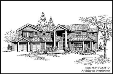 4-Bedroom, 3460 Sq Ft Colonial Home Plan - 115-1158 - Main Exterior