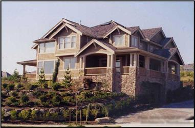 4-Bedroom, 4645 Sq Ft Luxury House Plan - 115-1159 - Front Exterior