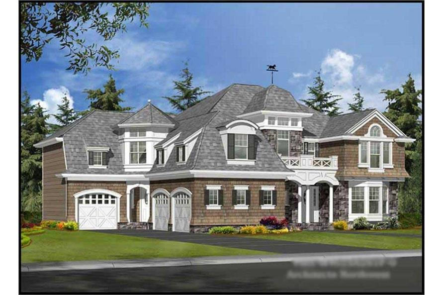 4-Bedroom, 4625 Sq Ft Colonial House Plan - 115-1160 - Front Exterior