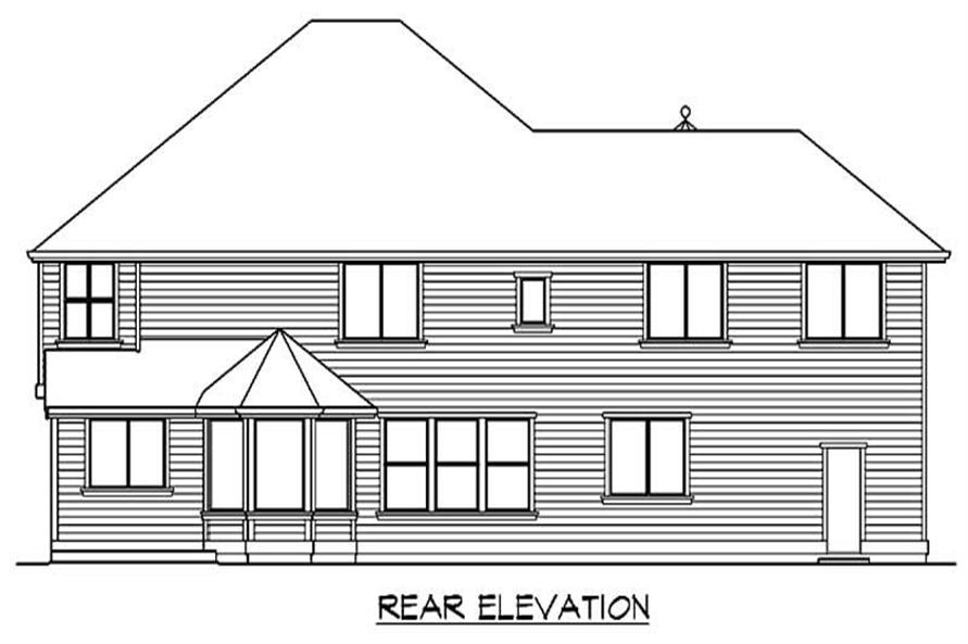 Home Plan Rear Elevation of this 4-Bedroom,4625 Sq Ft Plan -115-1160
