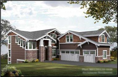 5-Bedroom, 4139 Sq Ft Luxury Home Plan - 115-1162 - Main Exterior