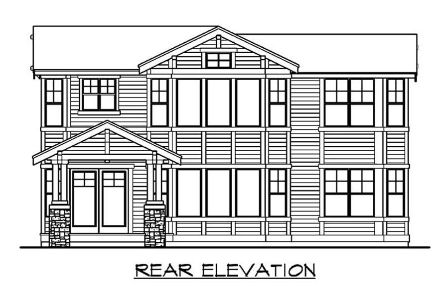 Home Plan Rear Elevation of this 5-Bedroom,4139 Sq Ft Plan -115-1162