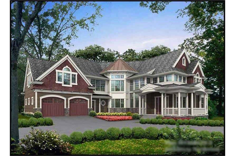 3-Bedroom, 4365 Sq Ft Country Home Plan - 115-1163 - Main Exterior