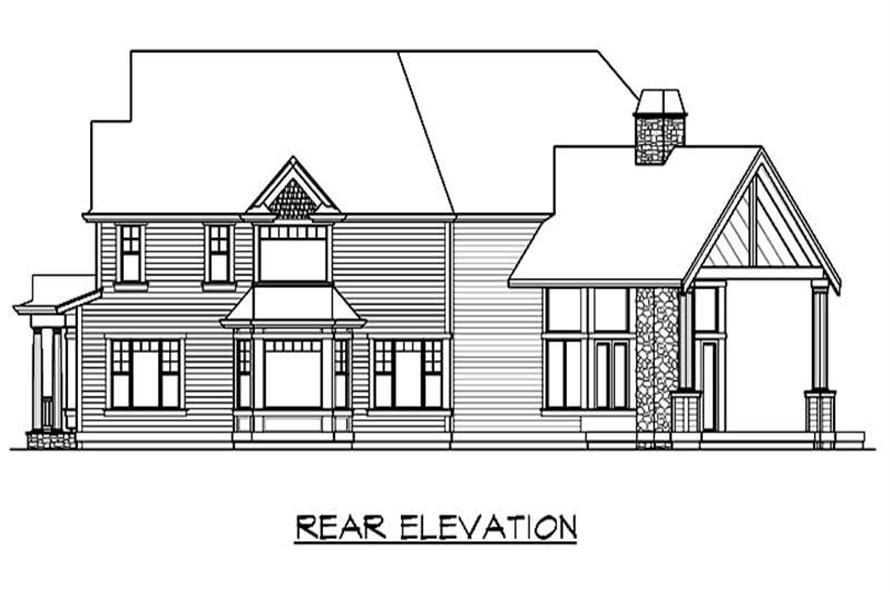 Home Plan Rear Elevation of this 3-Bedroom,4365 Sq Ft Plan -115-1163