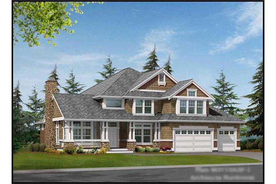 4-Bedroom, 3715 Sq Ft Ranch House Plan - 115-1164 - Front Exterior