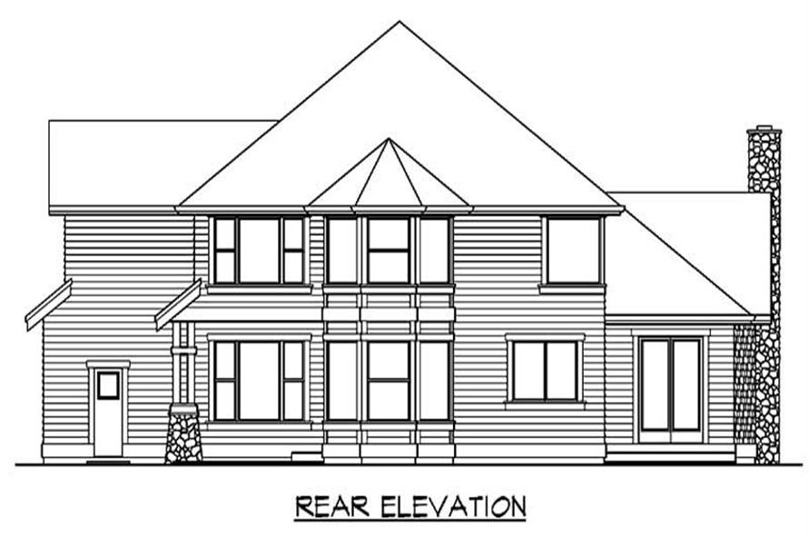 Home Plan Rear Elevation of this 4-Bedroom,3715 Sq Ft Plan -115-1164