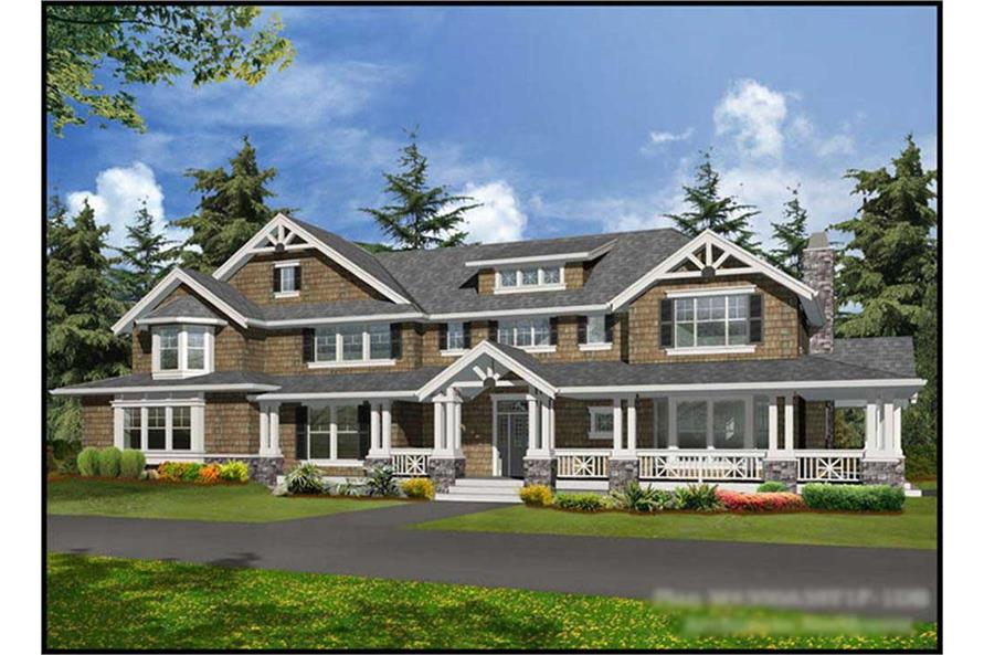4-Bedroom, 5810 Sq Ft Craftsman House Plan - 115-1165 - Front Exterior