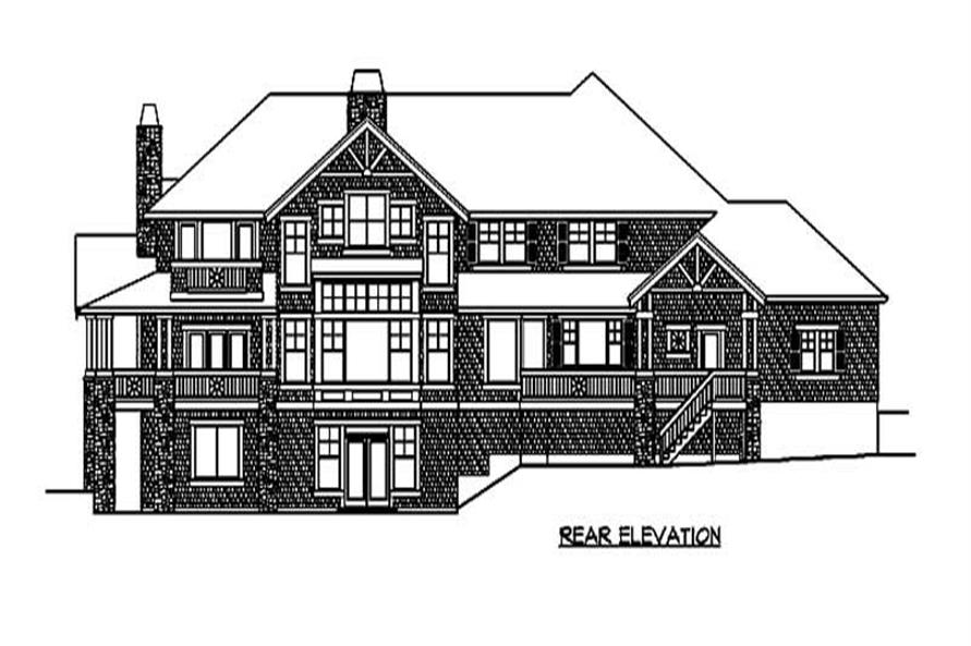 Home Plan Rear Elevation of this 4-Bedroom,5810 Sq Ft Plan -115-1165