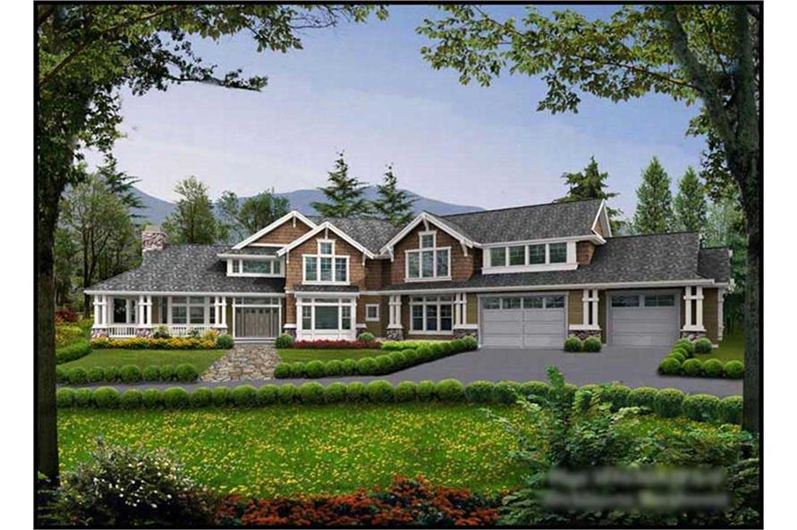 5-Bedroom, 4650 Sq Ft Craftsman House Plan - 115-1167 - Front Exterior