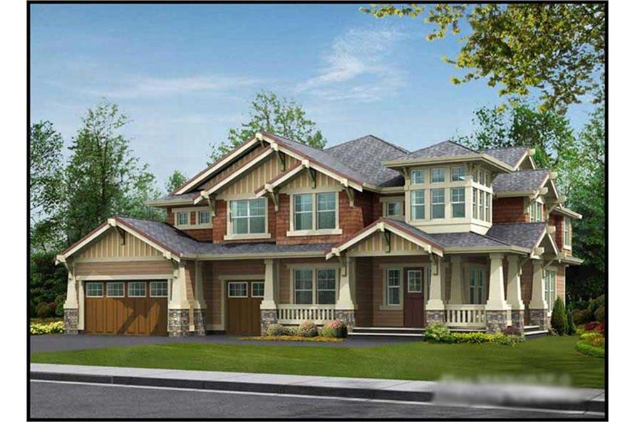 4-Bedroom, 4030 Sq Ft Historic Home Plan - 115-1168 - Main Exterior