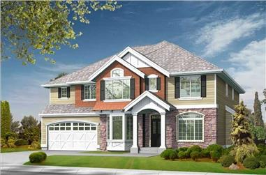 5-Bedroom, 4385 Sq Ft House Plan - 115-1169 - Front Exterior