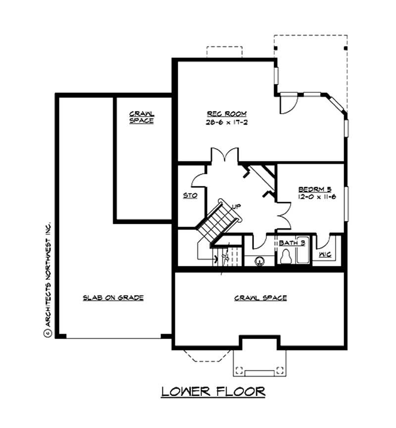 Home with 5 bedrms 4385 sq ft plan 115 1169 Cost of building a basement per square foot