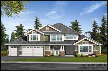 5-Bedroom, 3911 Sq Ft Ranch House Plan - 115-1172 - Front Exterior