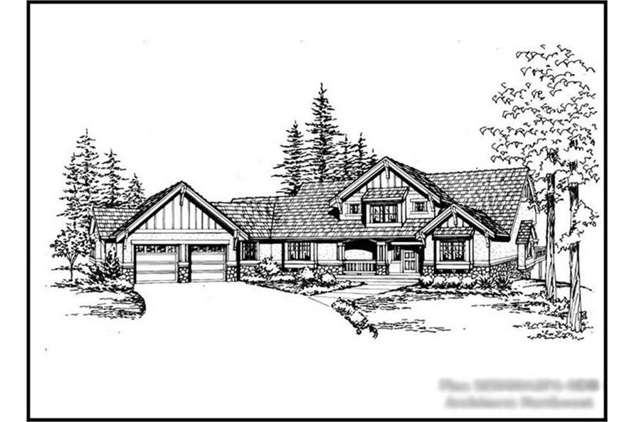 5-Bedroom, 4720 Sq Ft Craftsman Home Plan - 115-1173 - Main Exterior