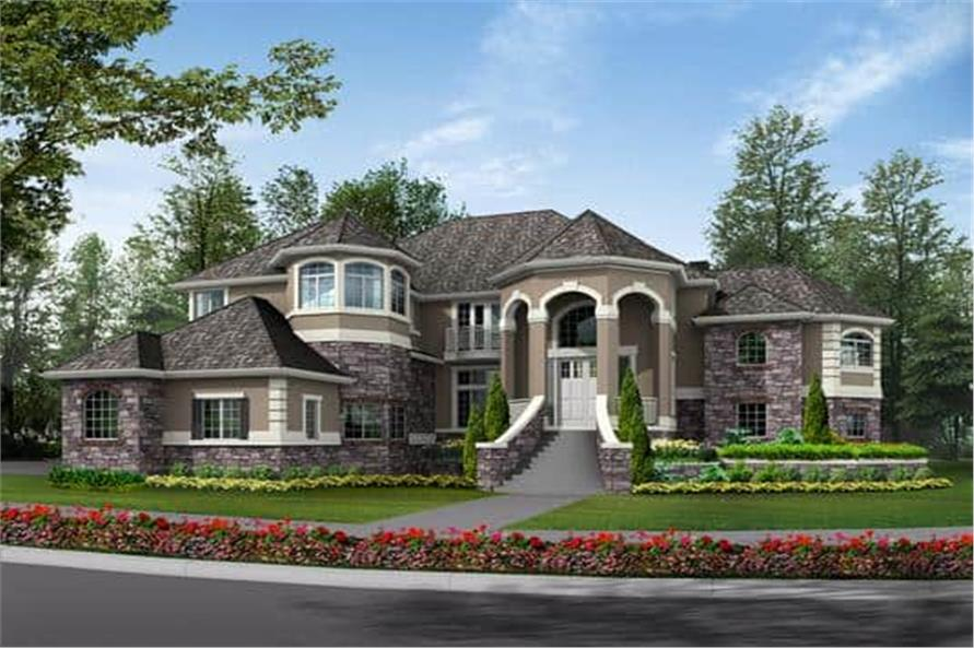 Home Plan Rendering of this 4-Bedroom,4684 Sq Ft Plan -4684