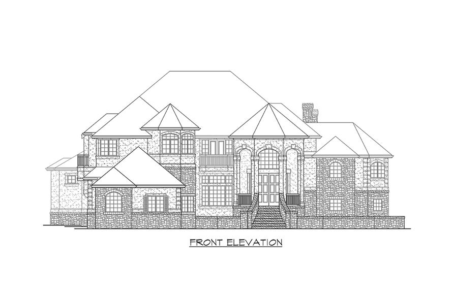 115-1174: Home Plan Front Elevation