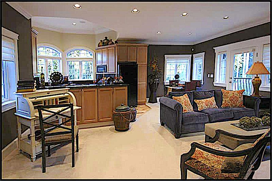 Living Room of this 4-Bedroom,4684 Sq Ft Plan -4684