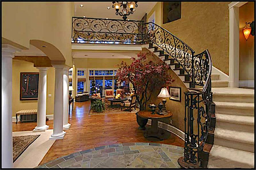 Entry Hall: Staircase of this 4-Bedroom,4684 Sq Ft Plan -4684