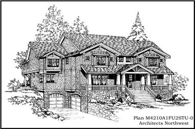 4-Bedroom, 4210 Sq Ft Country Home Plan - 115-1179 - Main Exterior