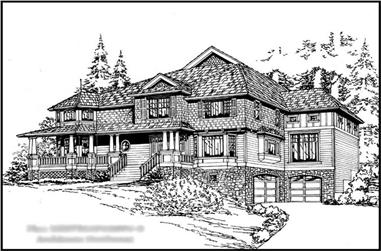 5-Bedroom, 5275 Sq Ft Country Home Plan - 115-1180 - Main Exterior