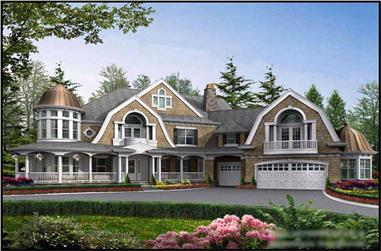 4-Bedroom, 7985 Sq Ft European House Plan - 115-1182 - Front Exterior