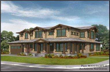 3-Bedroom, 3315 Sq Ft Country House Plan - 115-1183 - Front Exterior