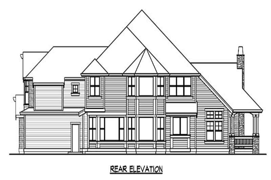 Home Plan Rear Elevation of this 4-Bedroom,5250 Sq Ft Plan -115-1188