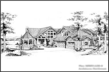 3-Bedroom, 4019 Sq Ft Craftsman Home Plan - 115-1189 - Main Exterior