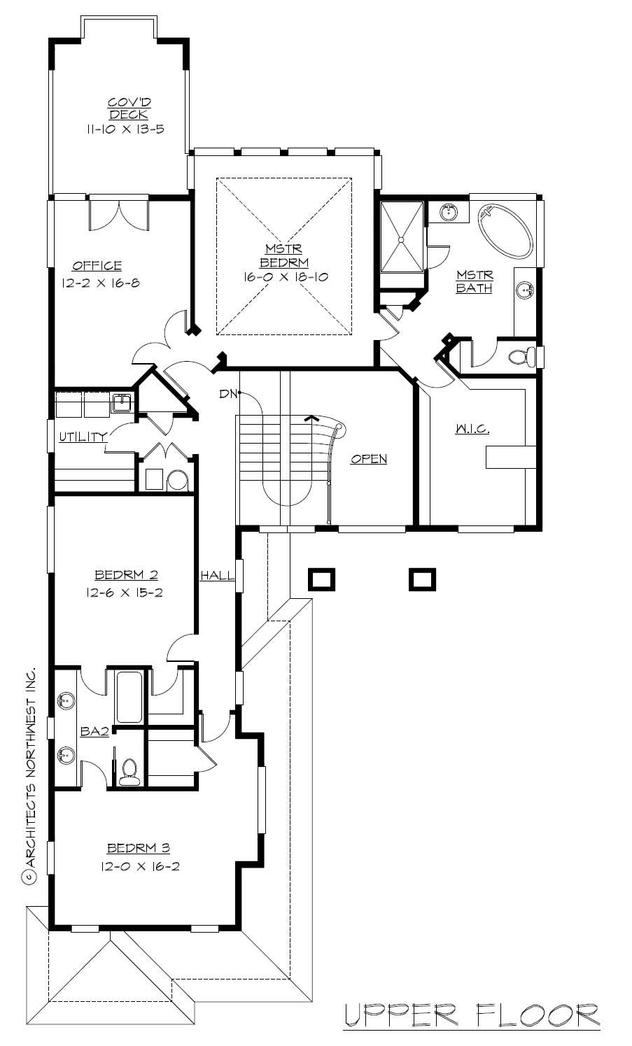 Floor Plan Second Story for Prairie Home Plans CD-M5003A3S-0