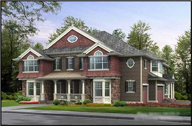 5-Bedroom, 4903 Sq Ft Luxury House Plan - 115-1196 - Front Exterior