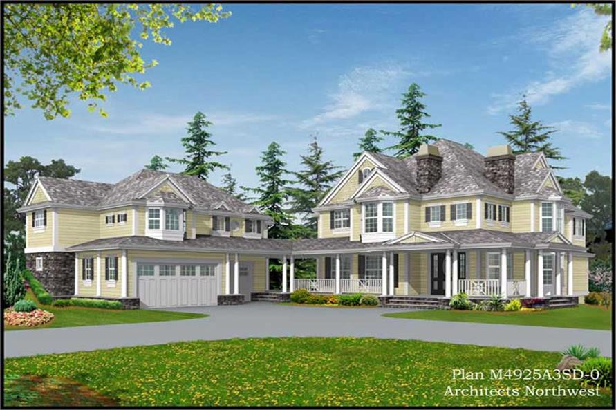 Exterior Photo of this 4-Bedroom,4925 Sq Ft Plan -4925