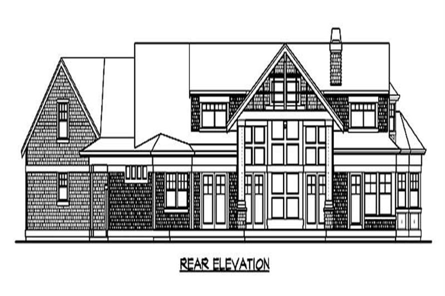 Home Plan Rear Elevation of this 3-Bedroom,3886 Sq Ft Plan -115-1199