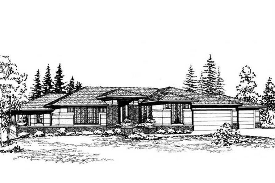 Home Plan Front Elevation of this 5-Bedroom,5300 Sq Ft Plan -115-1206