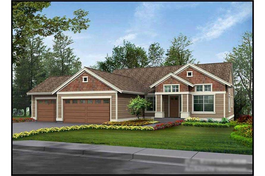 5-Bedroom, 2575 Sq Ft Ranch House Plan - 115-1207 - Front Exterior
