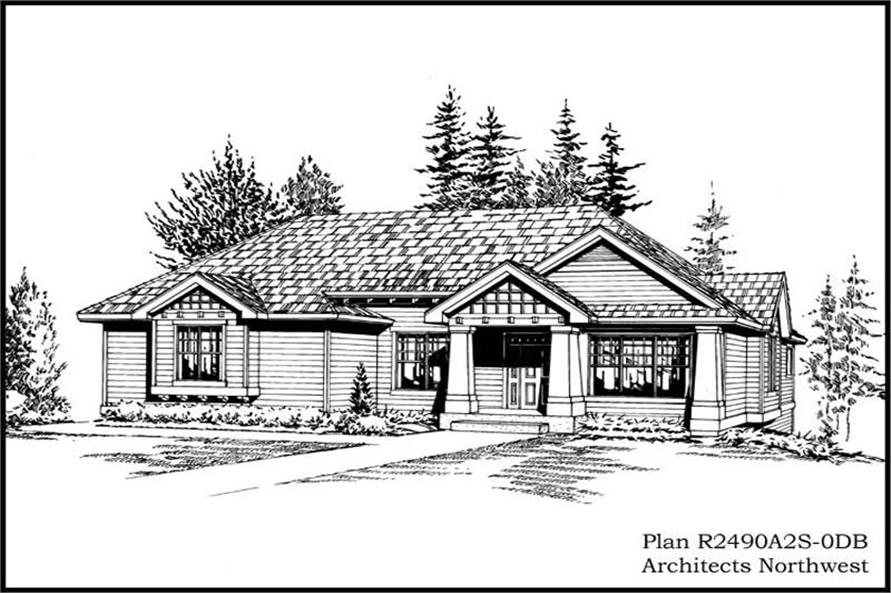 Main image for house plan # 15256