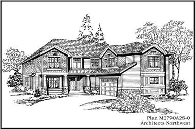 4-Bedroom, 2790 Sq Ft Multi-Level House Plan - 115-1209 - Front Exterior
