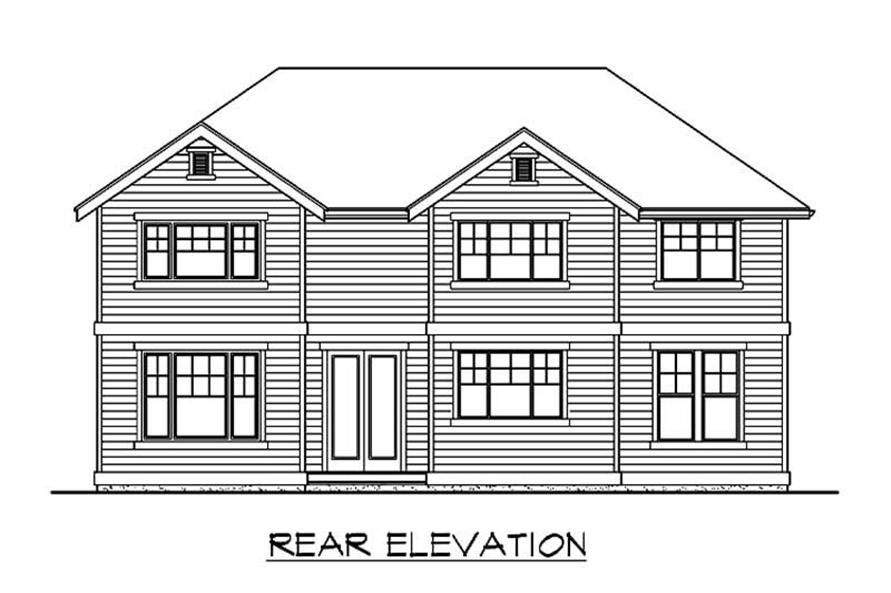 Home Plan Rear Elevation of this 4-Bedroom,2790 Sq Ft Plan -115-1209