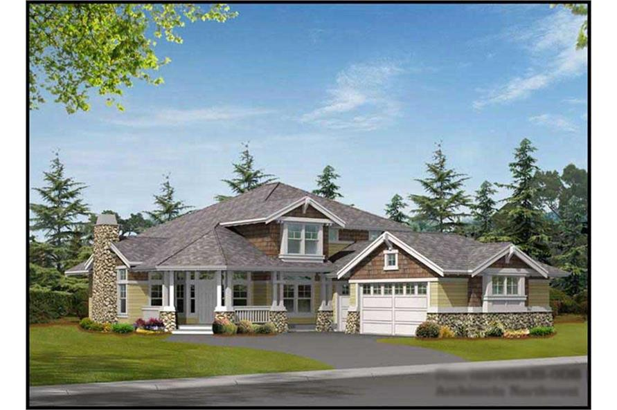 5-Bedroom, 3915 Sq Ft Ranch House Plan - 115-1210 - Front Exterior