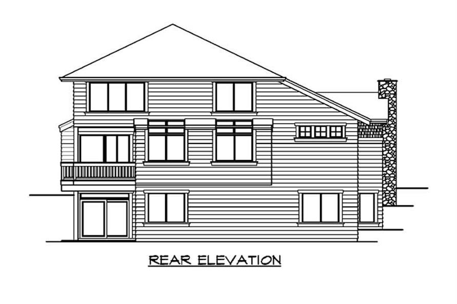 Home Plan Rear Elevation of this 5-Bedroom,3915 Sq Ft Plan -115-1210