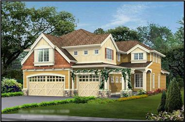 5-Bedroom, 4582 Sq Ft Ranch Home Plan - 115-1213 - Main Exterior